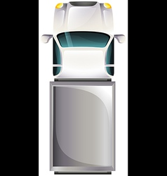 A topview of a grey vehicle vector