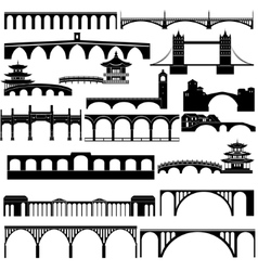 Architecture bridges vector