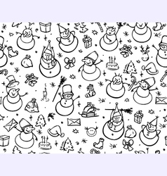 Seamless pattern for christmas vector