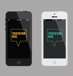 Phone mock-up template vector