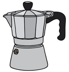 Classic espresso maker vector