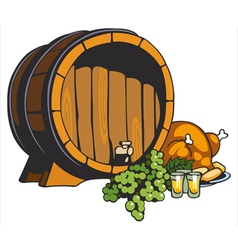 Fruit wine barrel vector