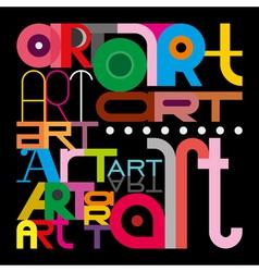 Art text design vector