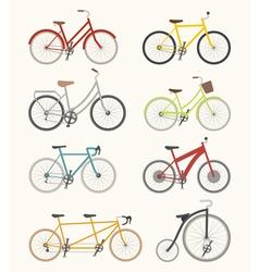 Set of retro bicycle vector