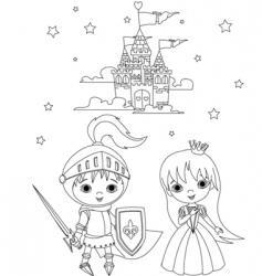 Medieval fairytales vector