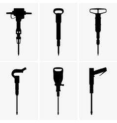 Pneumatic drills vector