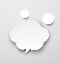 Paper white cloud vector