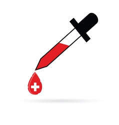 Pipette with red cross vector