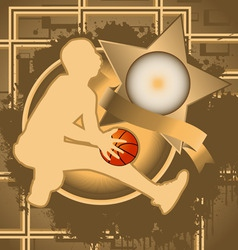Basketball vintage design vector