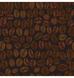 Seamless coffee bean vector