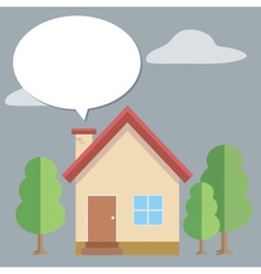 House bubble talk vector