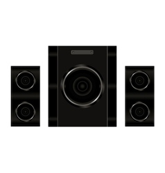 Realistic audio speakers vector