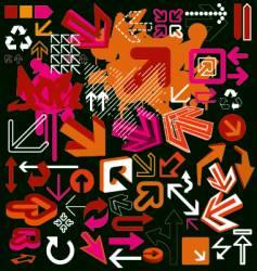 Graphic arrow vector