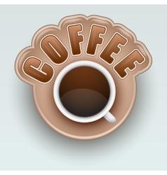 Label of coffee symbol for menu vector