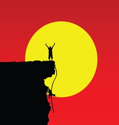 Man on the cliff color vector