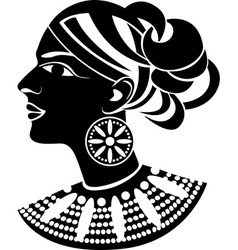 Female profile in african style vector