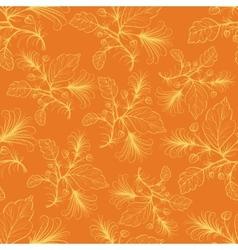 Orange floral pattern vector