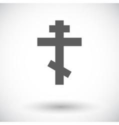 Cross single flat icon vector