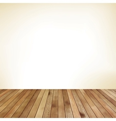 Empty room with wall and wooden floor eps 10 vector