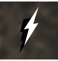 Lightning bolt icon mesh vector
