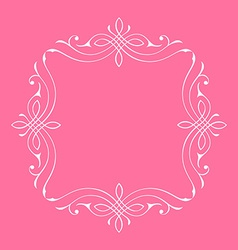 Calligraphic frame and page decoration bord vector