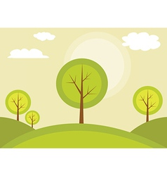 Trees on a hill vector
