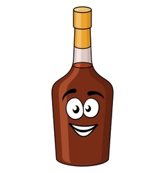 Cartoon bottle of alcohol or liqueur vector