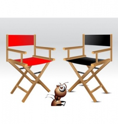 Wooden directors chairs vector
