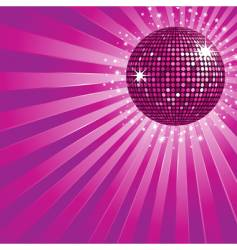 Purple disco ball and stars vector