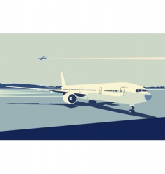 Urban airport vector