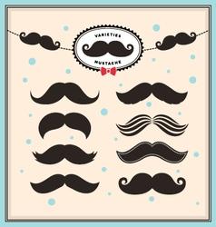 Mustache set vector