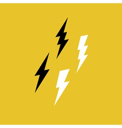 Lightning bolt icons on yellow vector