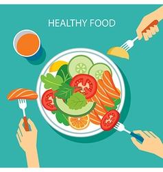Healthy food concept flat design vector