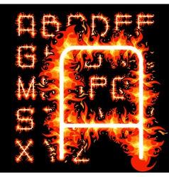 Fire alphabet vector