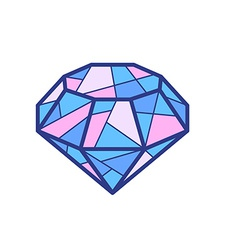 Blue and pink diamond on white background vector