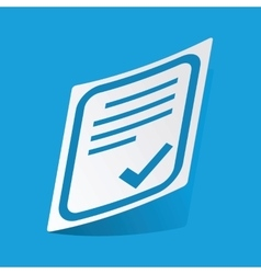 Approved document sticker vector