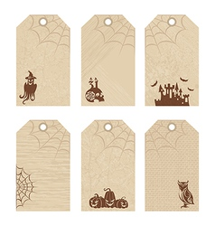 Halloween price tags vector