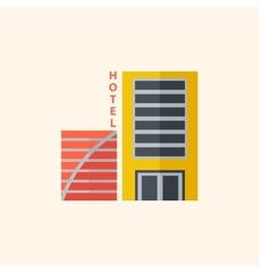 Hotel travel flat icon vector