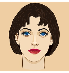Young girl vector