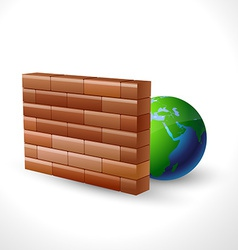 Firewall icon design vector