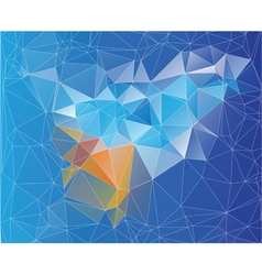 Mosaic low poly design vector