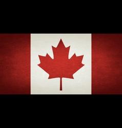 Grunge flag of canada vector