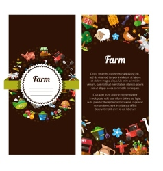 Flyer template of modern flat design farm and vector