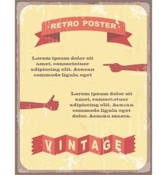 Vintage typography background vector
