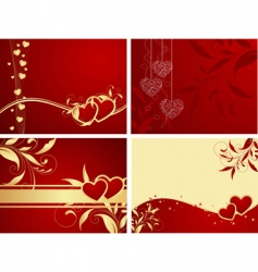 Valentines backgrounds vector