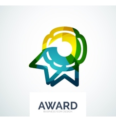 Colorful award business logo vector