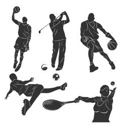 Sportsmen vector