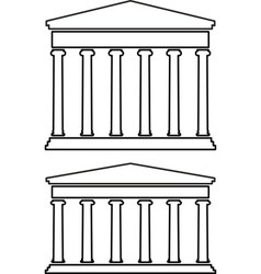 Contours of portico colonnade vector