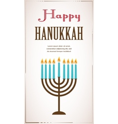 Happy hanukkah greeting card design jewish holiday vector