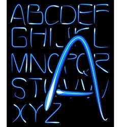 Light alphabet vector